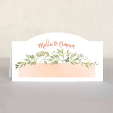 Watercolor Spring Place Card In Peach