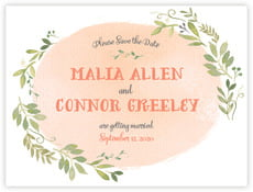 Watercolor Spring save the date cards