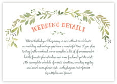 Watercolor Spring wedding enclosure cards
