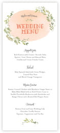 Watercolor Spring menus