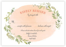 Watercolor Spring Response Card In Peach
