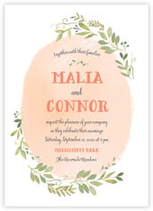Watercolor Spring invitations