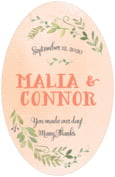 Watercolor Spring wedding beer labels