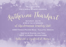baby shower invitations - lavender - watercolor splash (set of 10)