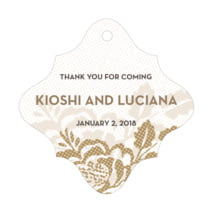Whimsical Romance fancy diamond hang tags