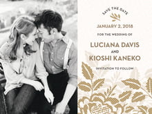 custom save-the-date cards - pale gold - whimsical romance (set of 10)