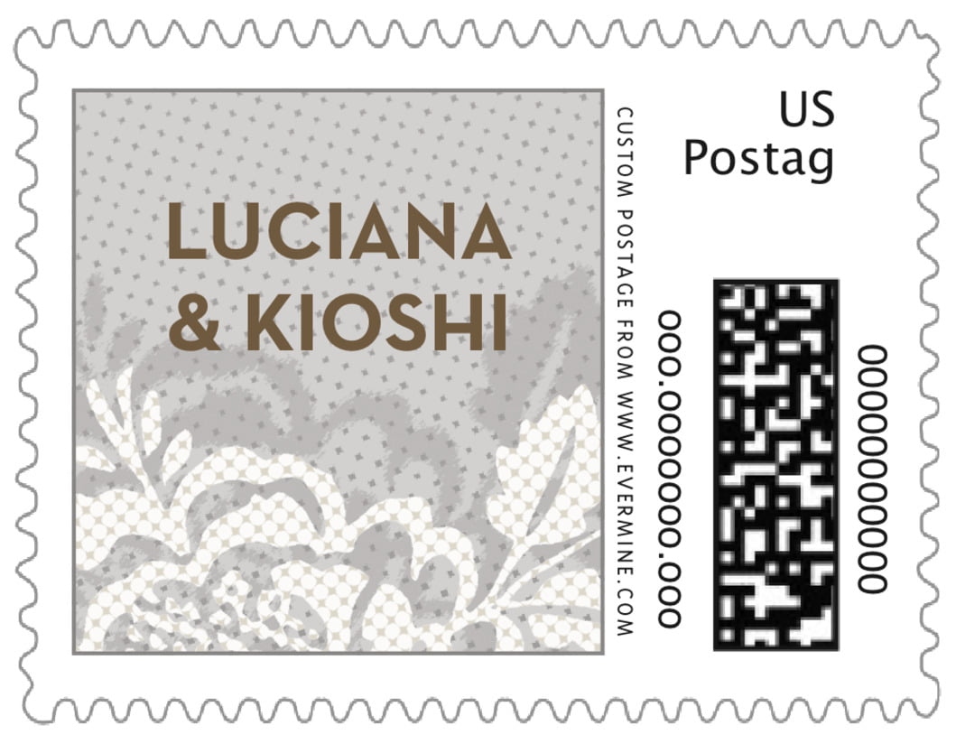 small custom postage stamps - stone - whimsical romance (set of 20)