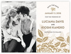 Whimsical Romance save the date cards