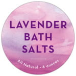 Watercolor Wash Circle Label In Radiant Orchid