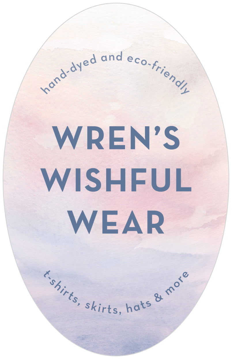large oval food/craft labels - rose quartz/serenity - watercolor wash (set of 8)