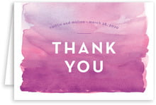 Watercolor Wash wedding thank you cards