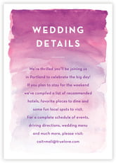 Watercolor Wash wedding enclosure cards