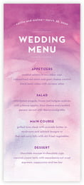 Watercolor Wash menus