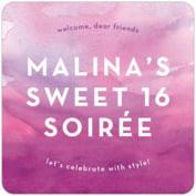 Watercolor Wash sweet sixteen coasters