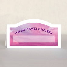Watercolor Wash sweet sixteen place cards