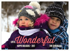 Winter Wonderful photo cards - horizontal