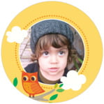Woodland Owl circle photo labels
