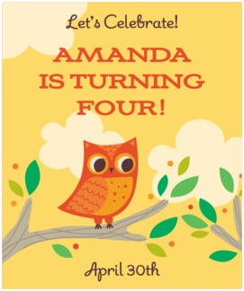Woodland Owl large labels