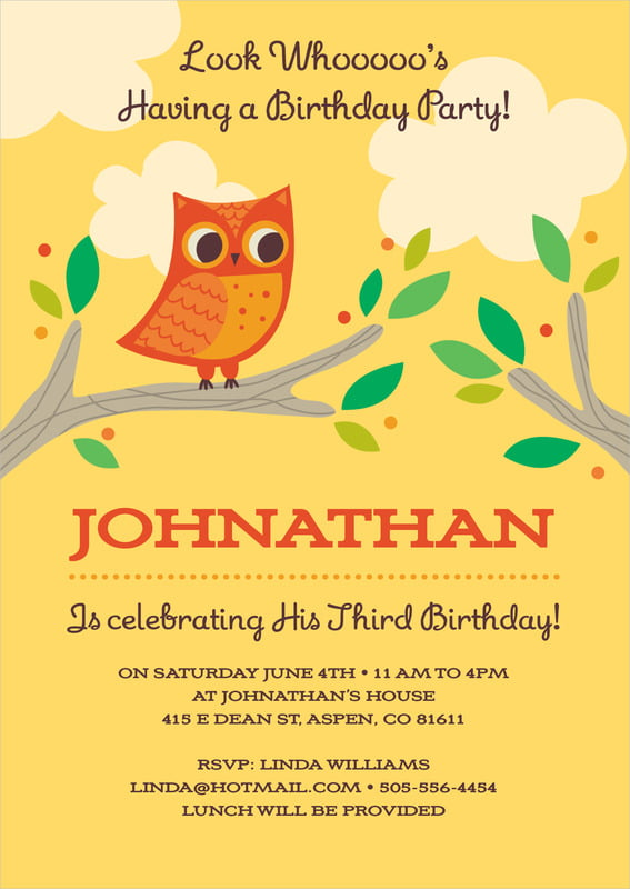 baby shower invitations - sunburst - woodland owl (set of 10)