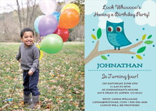 baby shower invitations - aruba - woodland owl (set of 10)