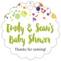 Watercolor Droplets baby shower tags