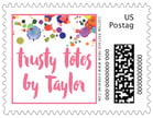 Watercolor Droplets business postage stamps
