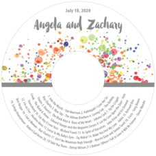 Watercolor Droplets cd labels