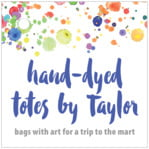 Watercolor Droplets Square Hang Tag In Deep Blue