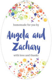 Watercolor Droplets large oval hang tags