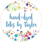 Watercolor Droplets circle hang tags