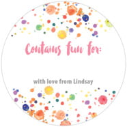 Watercolor Droplets large circle gift labels