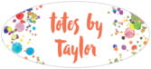 Watercolor Droplets oval labels