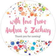 Watercolor Droplets large circle labels