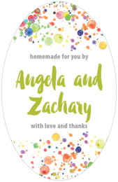 Watercolor Droplets tall oval labels