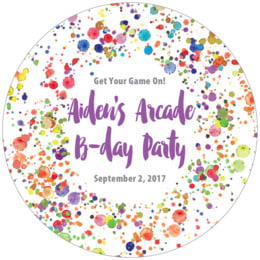 Watercolor Droplets round coasters
