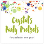 Watercolor Droplets party labels