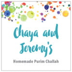 Watercolor Droplets Square Label In Turquoise