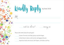 custom response cards - turquoise - watercolor droplets (set of 10)