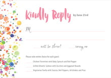 custom response cards - pink - watercolor droplets (set of 10)