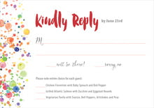 custom response cards - deep red - watercolor droplets (set of 10)