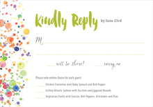 custom response cards - lime - watercolor droplets (set of 10)