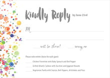 custom response cards - charcoal - watercolor droplets (set of 10)