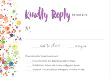 custom response cards - purple - watercolor droplets (set of 10)