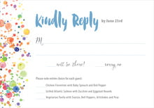 custom response cards - blue - watercolor droplets (set of 10)
