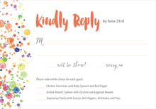 custom response cards - deep coral - watercolor droplets (set of 10)