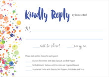 custom response cards - deep blue - watercolor droplets (set of 10)