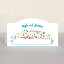 Watercolor Droplets place cards
