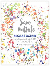 Watercolor Droplets save the date cards