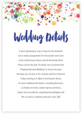 Watercolor Droplets enclosure cards