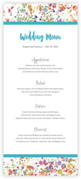 Watercolor Droplets menus